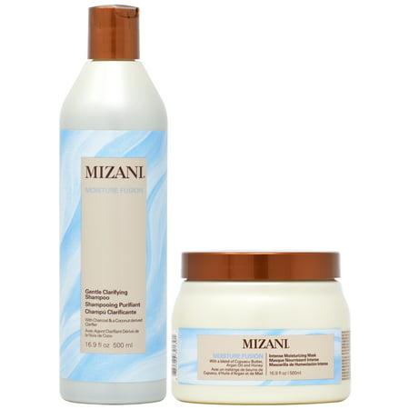 Mizani Moisture Fusion Set 1 - Gentle Clarifying Shampoo + Intense Moisturizing Mask