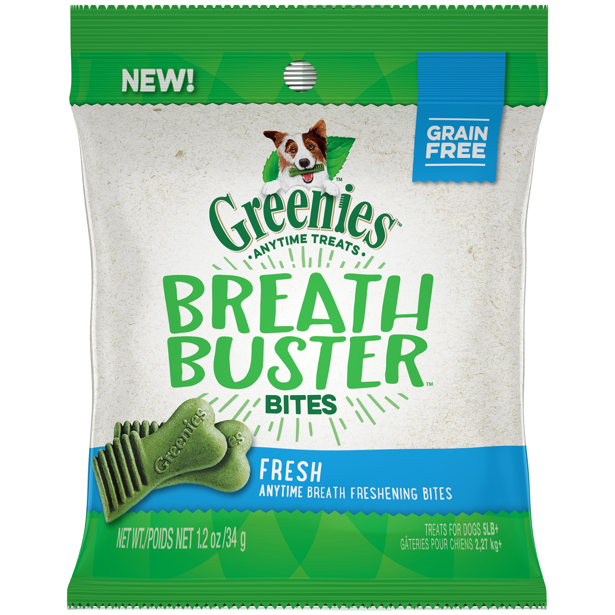 Greenies Breath Buster Bites Fresh Flavor Treats for Dogs 1.2 Ounces