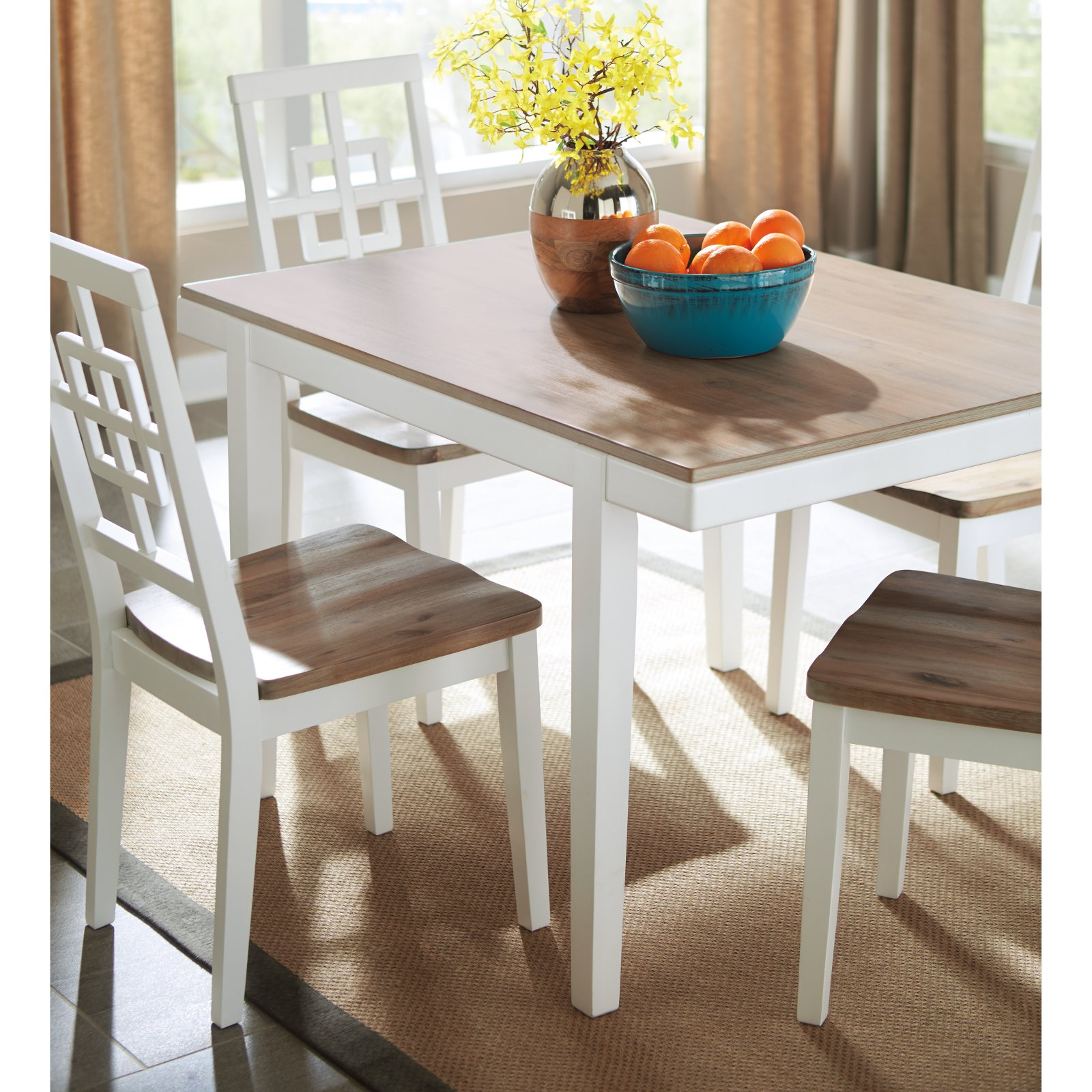 Signature Design by Ashley Brovada Rectangular Dining Table Set
