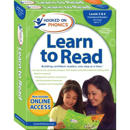 Hooked on Phonics Learn to Read - Levels 5&6 Complete : Transitional Readers (First Grade | Ages 6-7) (Hooked On Phonics Readers)