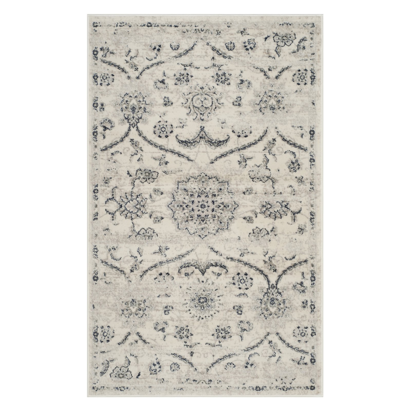 Safavieh Carnegie Paskal Power-Loomed Area Rug, Cream/Light Grey