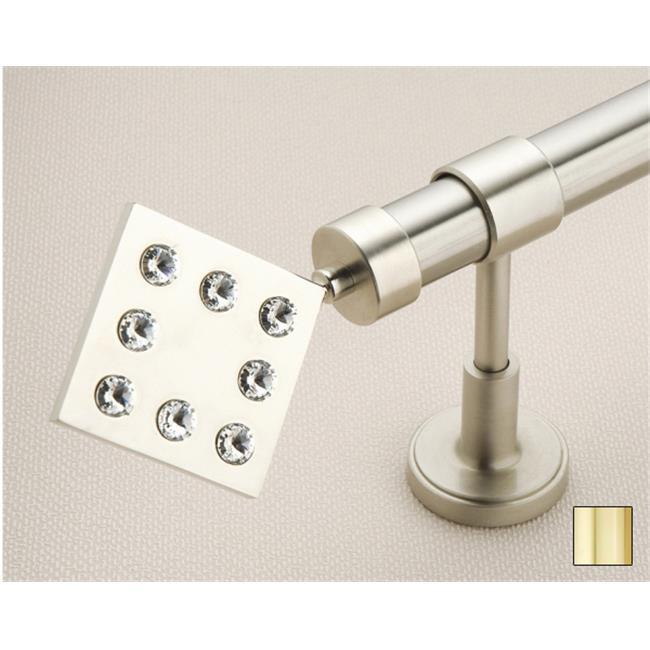 WinarT USA 8. 1037. 25. 04. 120 Hera 1037 Curtain Rod Set - 1 inch - Polished Brass - 48 inch