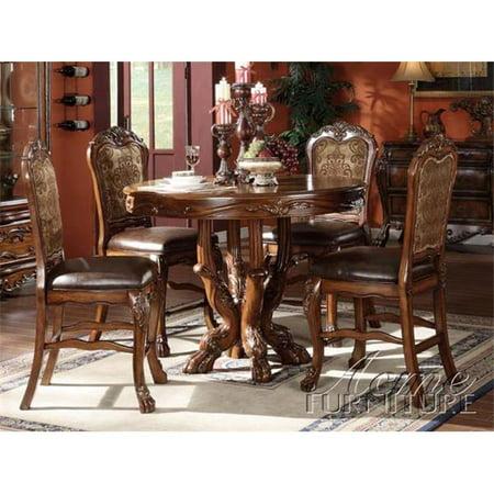 Round Counter Height Pedestal (Acme Furniture 12160 Dresden Round Pedestal Counter Height Table in Brown Cherry)