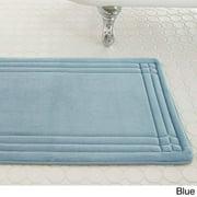 Amrapur Overseas Inc Embossed Memory Foam Geoplex 17-inch by 24-inch Bath Mat