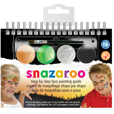 Snazaroo Step-By-Step Face Painting Kit-Halloween - Devil Face Painting Halloween