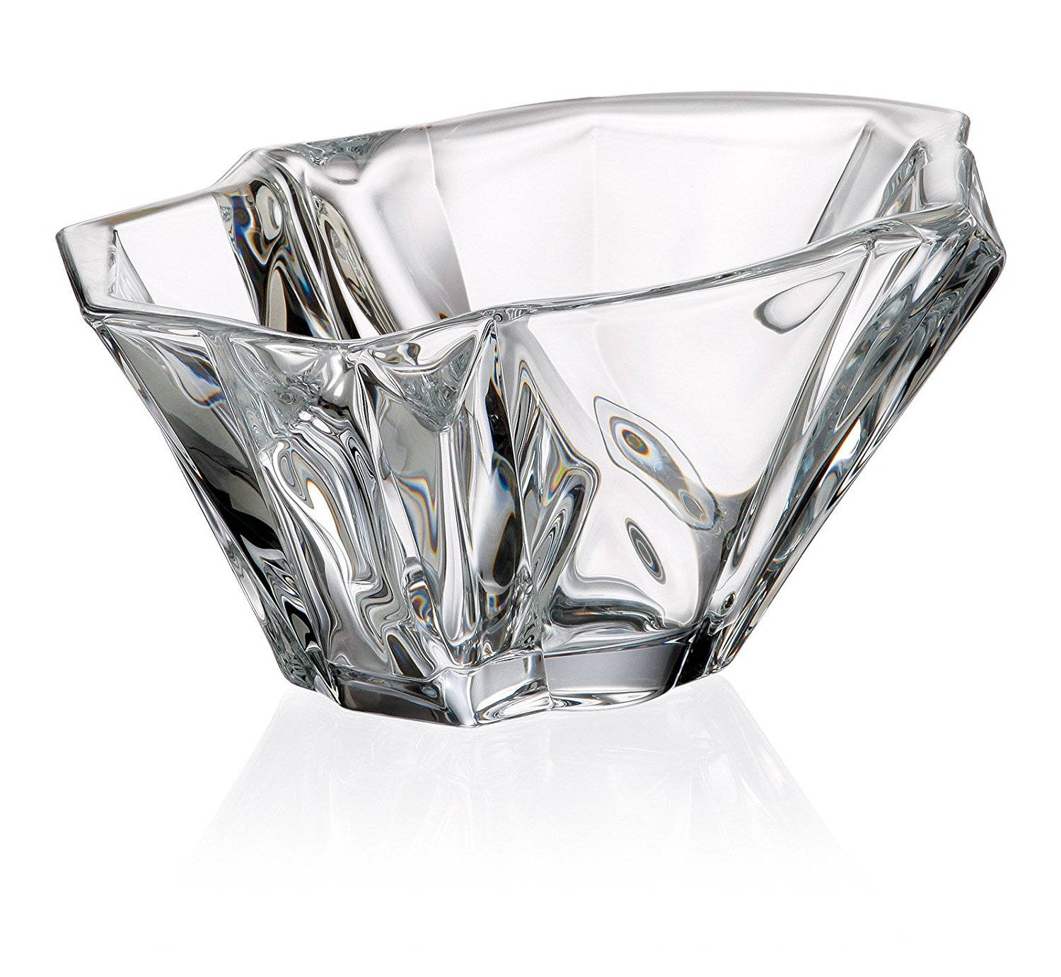 "Bohemia Crystal Middle Bowl ""Angle\ by"