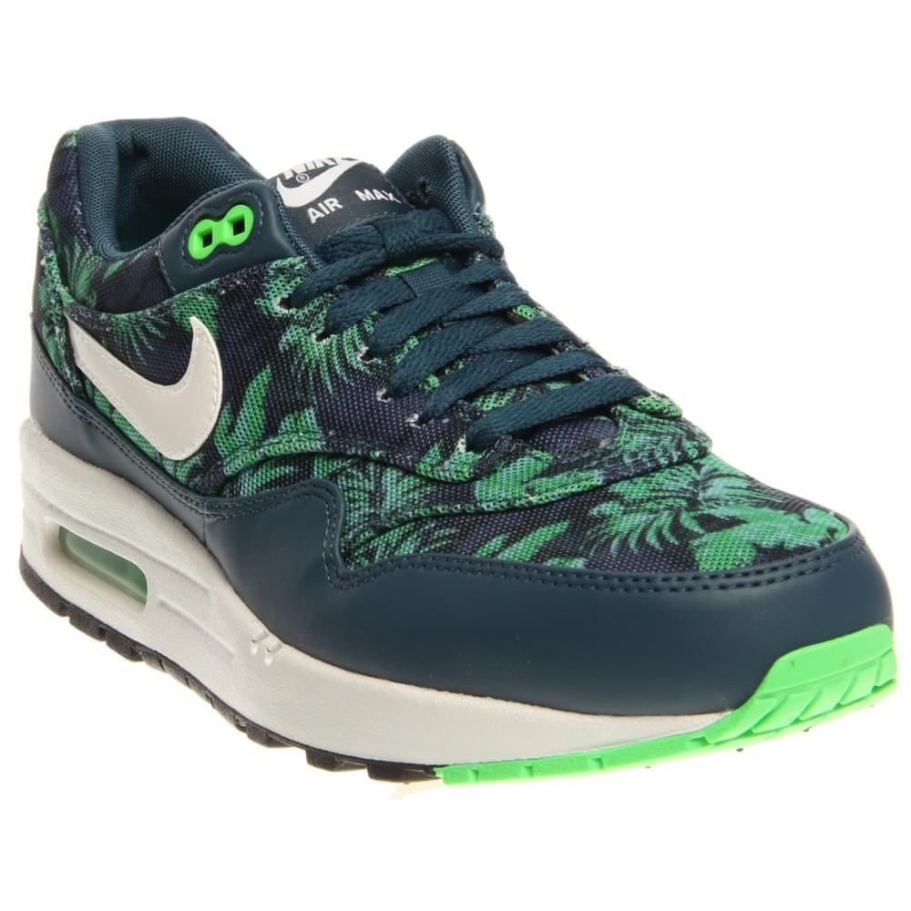 Nike Air Max 1 GPX Floral Space Blue White Black Jade 684174-400 by Nike