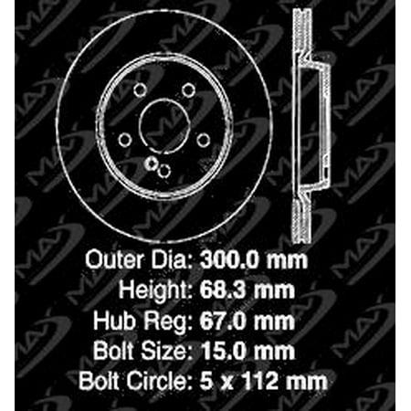 Max Brakes Rear Performance Brake Kit [ Premium Slotted Drilled Rotors + Metallic Pads ] TA169232 | Fits: 2006 06 Benz E500 4Matic w/Rear Vented Rotors - image 7 of 8