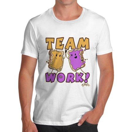 Men's T-Shirt Peanut Butter And Jelly Team Work Funny T Shirts For Men