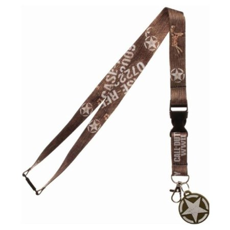 Bioworld Call Of Duty WWII Series Lanyard & ID Badge Holder w/ Bonus Pin - Brown thumbnail