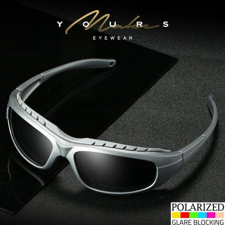 Polarized Anti Glare Padded Wind Resistant Sunglasses Motorcycle Riding (Glare Resistant Glasses)