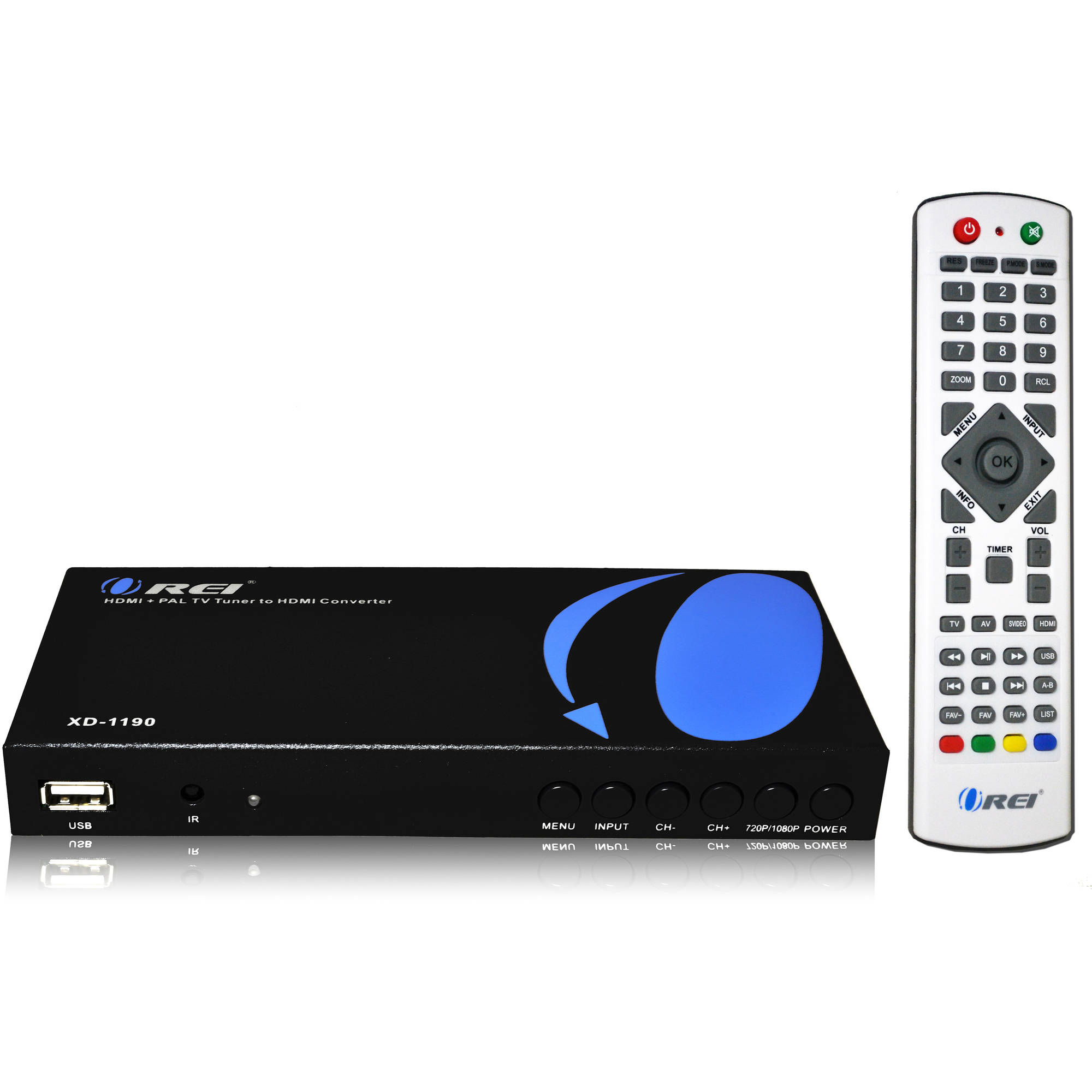 Orei XD-1190 PAL HDMI/RCA to NTSC HDMI Converter with Bui...