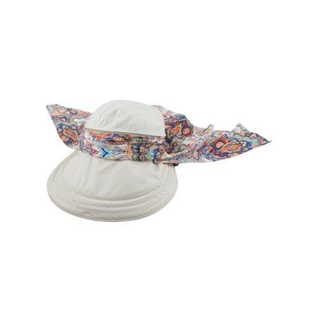 Sun Blend - Lady Cotton Blends Adjtable Floppy Wide Brim Summer Sun Cap Beach Hat