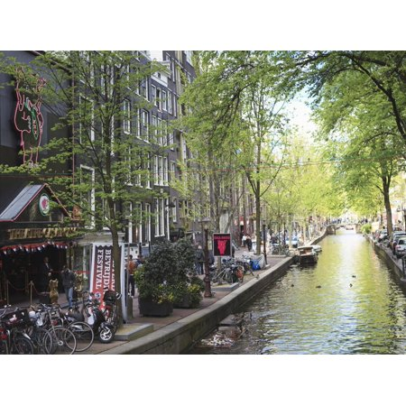 Canal in the Red Light District, Amsterdam, Netherlands, Europe Print Wall Art By Amanda (Best Red Light District Amsterdam)
