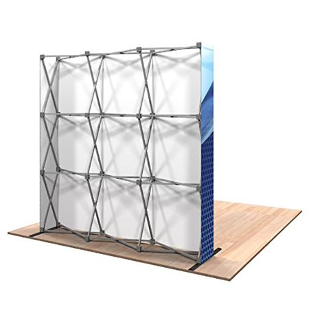 8-Feet Pop-Up Display Trade Show, Backdrop Booth Frame,Portable Display Booth with Carrying Bag