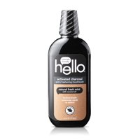 Hello Activated Charcoal Extra Freshening Mouthwash, Natural Fresh Mint, Alcohol Free And Vegan, 16oz