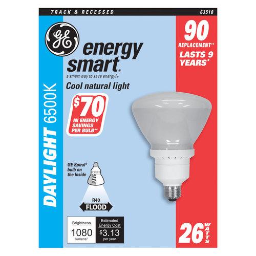 GE   Energy Smart  CFL Bulb  26 watts 1170 lumens Floodlight  R40  1 in. L Daylight  1 pk