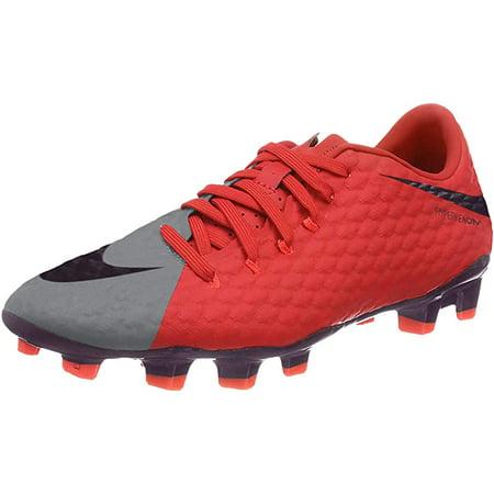 Nike Women's Hypervenom Phelon II FG Soccer Cleat, Grey/Orange, 6.5 B(M) US