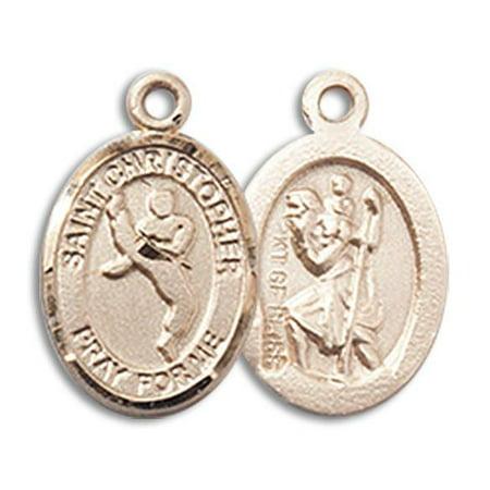 - St. Christopher / Martial Arts Medal in 14 KT Gold Filled