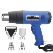 Heat Gun Dual-Temperature 1500W 110V with 4pcs Stainless Steel Concentrator Tips Blue Home Improvement/Restoration