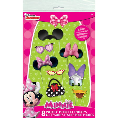 Minnie Mouse Photo Booth Props, 8pc (Minnie Mouse Birthday Party Ideas)