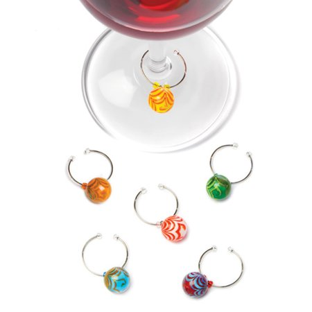 Swirlâ ¢: Glass Wine Charms