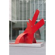 Sculpture Red Dog Ulm Keith Haring Dog Artwork-24 Inch By 36 Inch Laminated Poster With Bright Colors And Vivid Imagery-Fits Perfectly In Many Attractive Frames