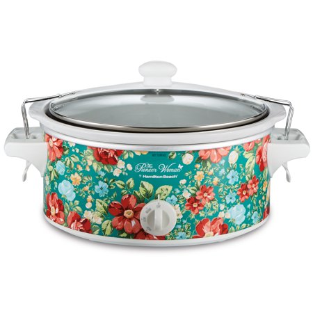 Pioneer Woman 6 Quart Portable Slow Cooker by Hamilton Beach, Vintage Floral, Model#