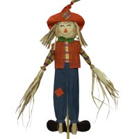 Harvest 5ft Scarecrow Boy Orange Vest