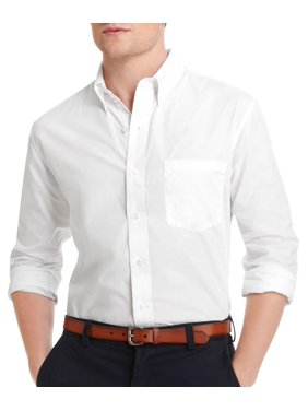 IZOD Mens Long Sleeve Solid Woven Button Down Shirt