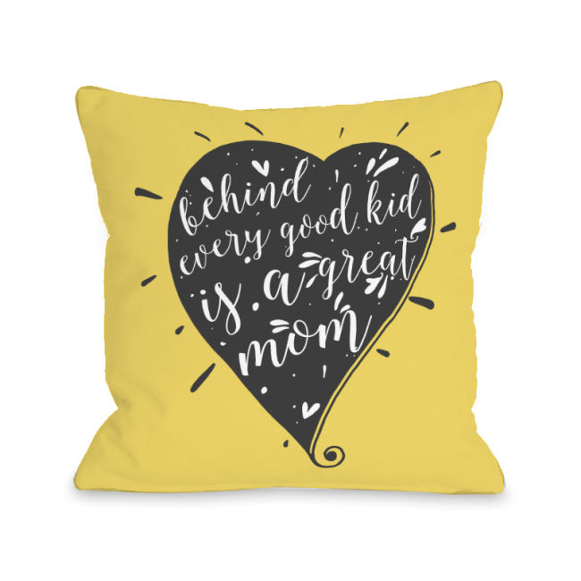 Behind Every Good Kid - Yellow 16x16 Pillow by OBC
