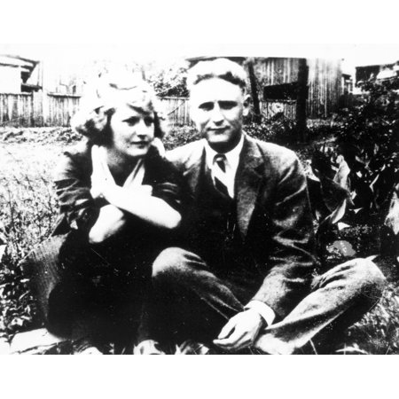 F Scott Fitzgeraldn 1896 1940  Francis Scott Key Fitzgerald American Writer Fitzgerald With His Wife Zelda Poster Print By Granger Collection