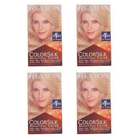 Revlon Colorsilk Beautiful Color, Medium Golden Chestnut Brown 46 1 ea (Pack of 4) + Facial Hair Remover Spring (Revlon Color Remover)