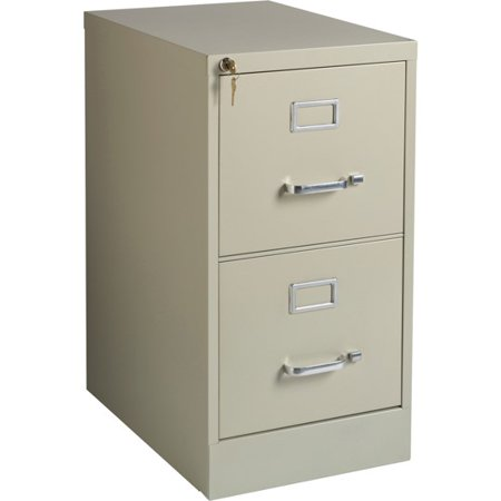 2 Drawers Vertical Steel Lockable Filing Cabinet, Putty ()