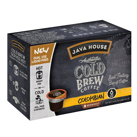 Java House Cold Brew Coffee Pods, Colombian, 6 Count ()