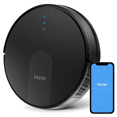 iHome AutoVac Eclipse G All-in-One Robot Vacuum and Mop with HomeMap Navigation, Wi-Fi/App