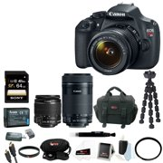 Canon EOS Rebel T5 DSLR Camera with 18-55mm and 55-250mm Lens Bundle and 64GB Deluxe Accessory Kit