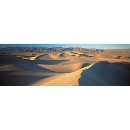 Sunset Mesquite Flat Dunes Death Valley National Park Ca Usa Poster Print