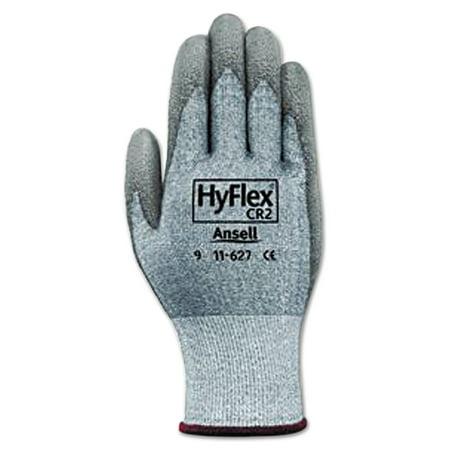 AnsellPro HyFlex 627 Light-Duty Gloves, Size 10, Dyneema/Lycra/Polyurethane, GY, 12 Pairs