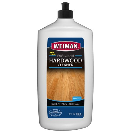 Weiman Wood Floor Cleaner - 32 Ounce - For Hardwood, Finished Oak, Maple, Cherry, Birch, Engineered, and More - Professional, Safe, Steak-less 32 fl