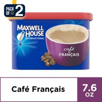 (2 Pack) Maxwell House International Francais Cafe-Style Beverage Mix, 7.6 oz Canister