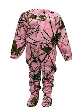 INFANT-TODDLER FLEECE CAMO CRAWLER / ONE PIECE SLEEPER CAMO / PINK-PURPLE-GREEN (Pink Camo,4T)