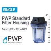 """5"""" x 2.5"""" Clear Water Filter Housing 1/4"""" NPT Whole House RO"""