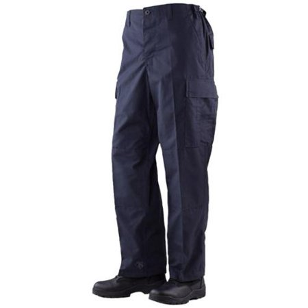 BDU Trousers Navy 65/35 Polyester, Cotton Rip-Stop, Small Long
