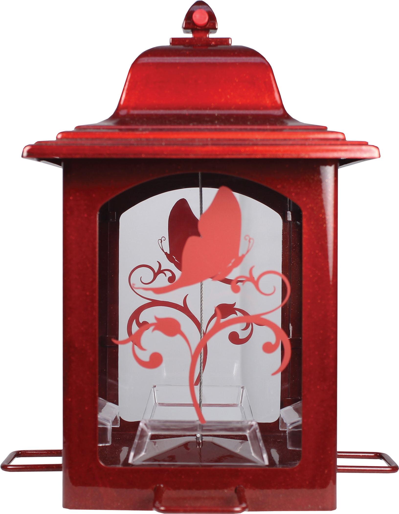 Perky-Pet Red Sparkle Lantern Wild Birdfeeder by Perky-Pet