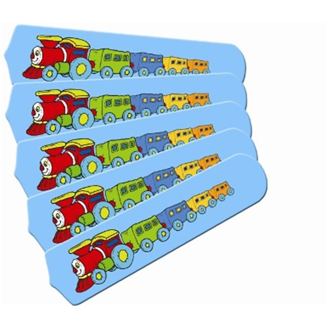 Ceiling Fan Designers 52SET-IMA-KTCC Kids Train Choo Choo 52 inch Ceiling Fan Blades Only
