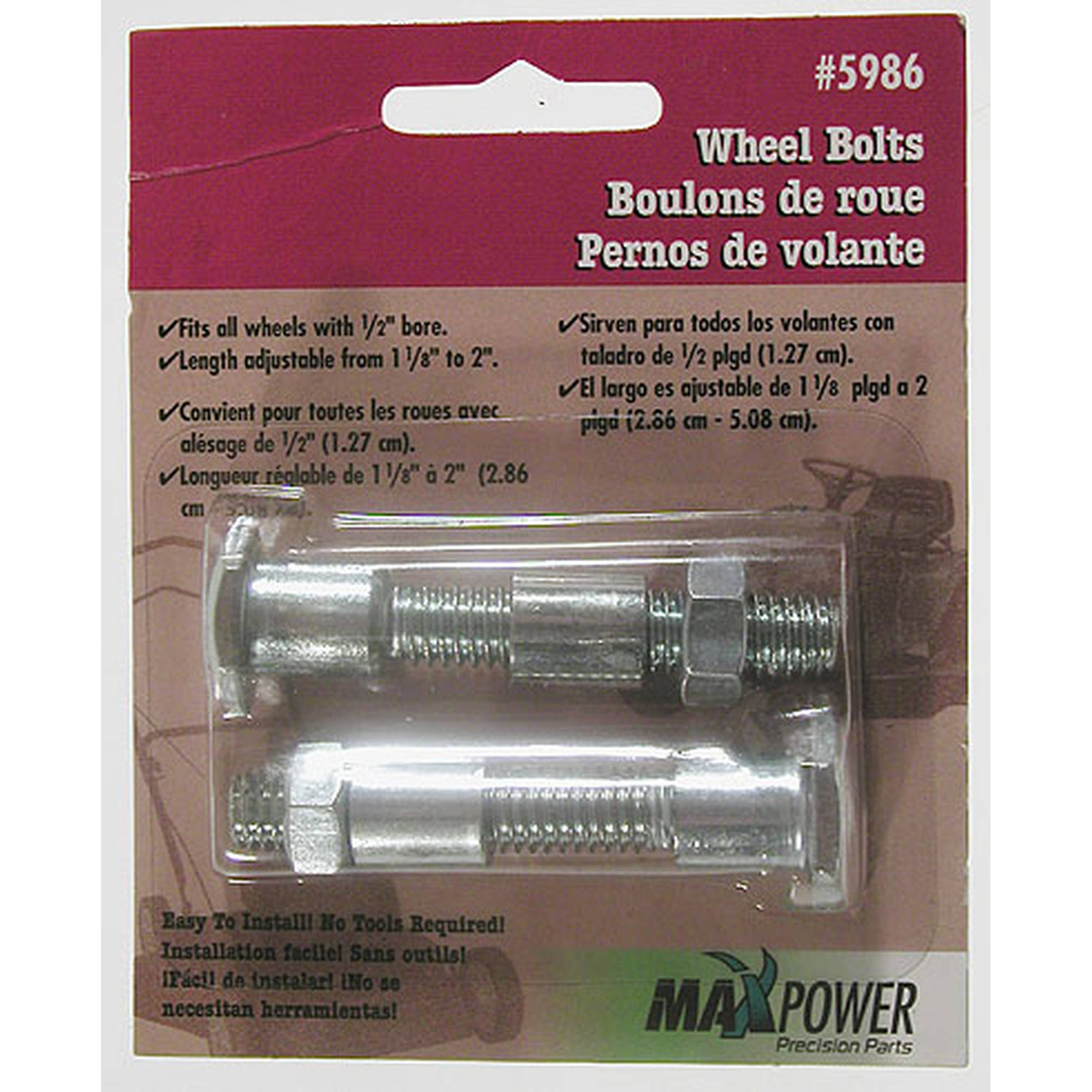 Maxpower 335986 Universal Wheel Bolts