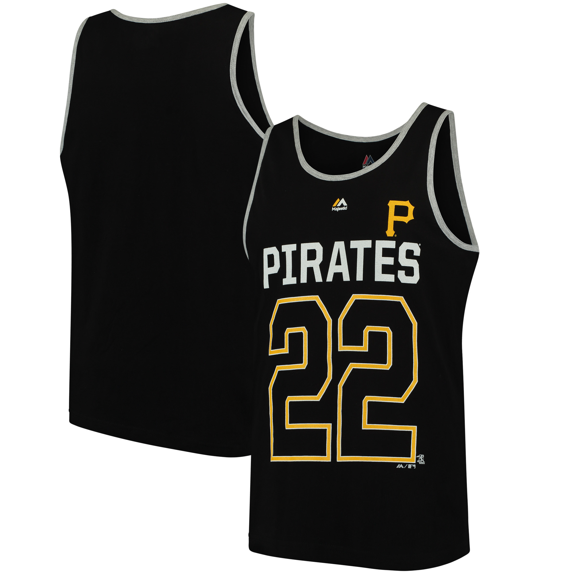 Andrew McCutchen Pittsburgh Pirates Majestic Catch The Dream Tank Top - Black