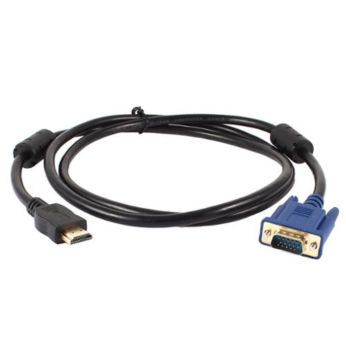 1.5Meter Shielded Cord HDMI Male to VGA 15 Pin Male Connector Cable