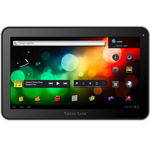 "Refurbished Visual Land ME-110-16GB-BLK 10"" Tablet with 16GB Memory"